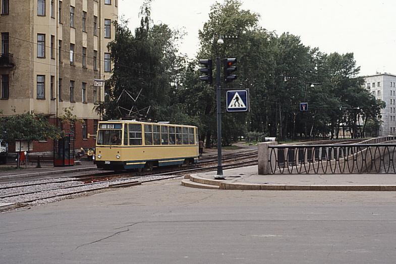 Ленинград. Петроградская. Карповка. Трамвай №18 80-е